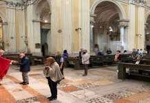 Prima Messa con le nuove norme anti-Covid 19 in Cattedrale