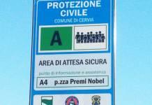 Uno dei cartelli installati a Cervia