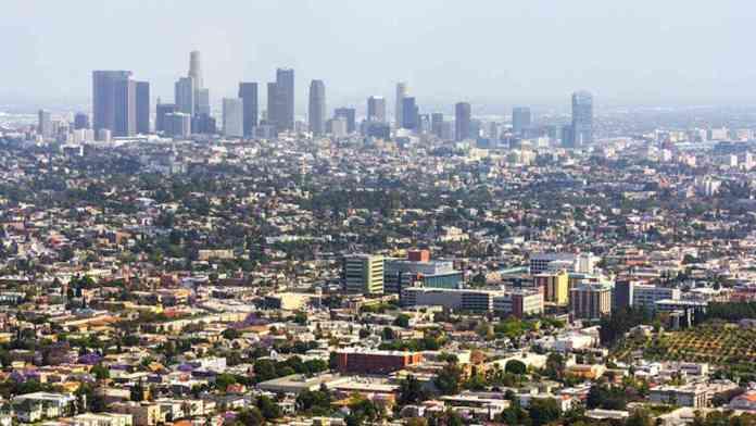 Una veduta di Los Angeles