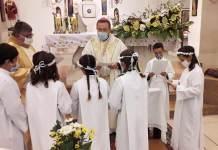 Un momento della Messa di martedì 13 ottobre