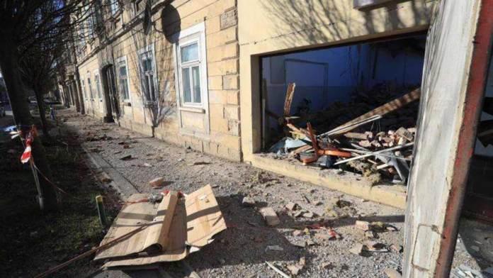 Danni provocati dal terremoto in Croazia