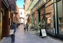 Strade e negozi vuoti