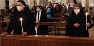 Alcune delle religiose presenti alla Messa in duomo