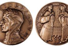 La medaglia dedicata a Dante