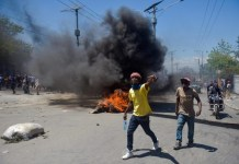 Una manifestazione di protesta ad Haiti