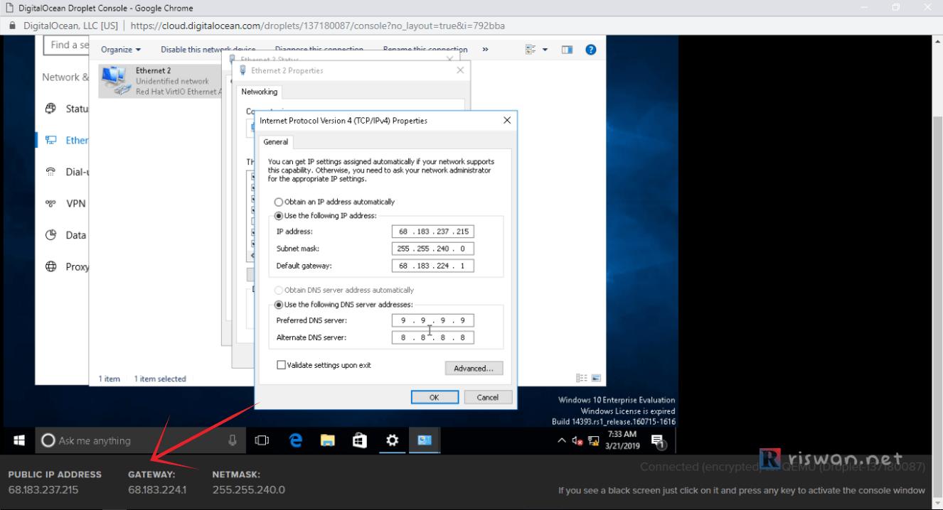 Cara Instal RDP Windows di VPS Digital Ocean