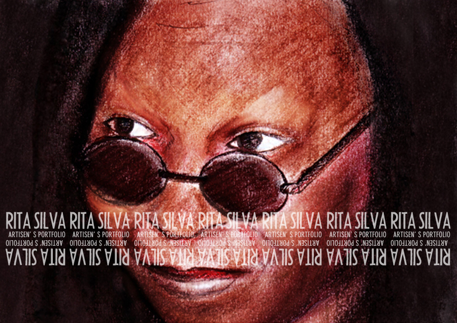 Whoopi Illustration MIxed Media