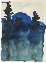 Georgia O'Keeffe, Blue Hills no.3, 1916, watercolor on paper, Private collection