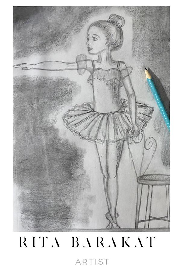 Ballerina Sketch practice by Rita Barakat