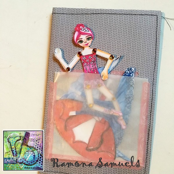 Magical Theatre, Create and PLay with Movable Paper Dolls by Rita Barakat   Gorgeous dolls, backgrounds, clothes and accessores in color and black and white for you to color!  #Articulated dolls #paper dolls