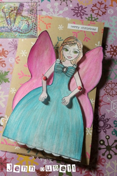 Magical Theatre Paper Doll Christmas Card