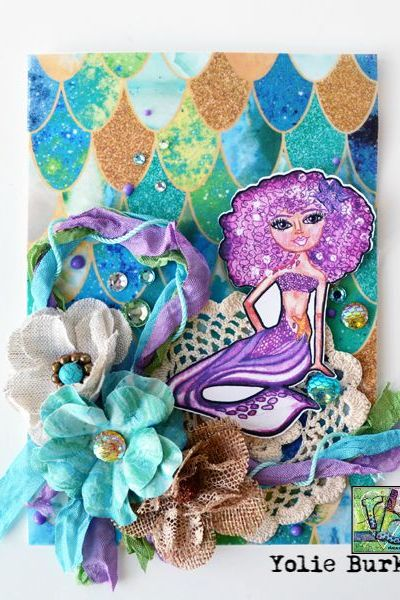 Magnificent Mermaid Card by Yolie