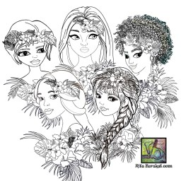 Tropical Girls, a dies collection by Rita Barakat availble for a limited time only