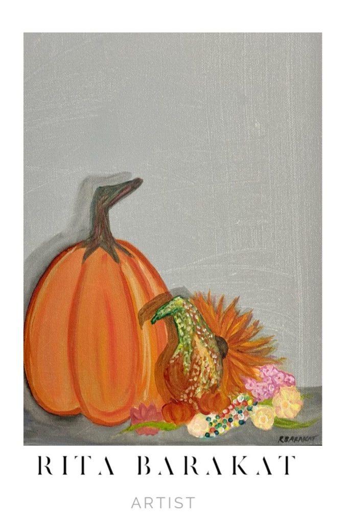 Pumpkins Original art by Rita Barakat