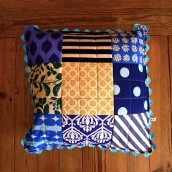 almofada square azul