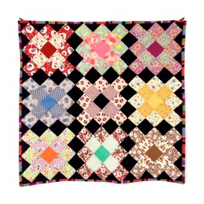 granny squares wall quilt