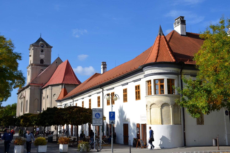 Il centro storico di Pezinok
