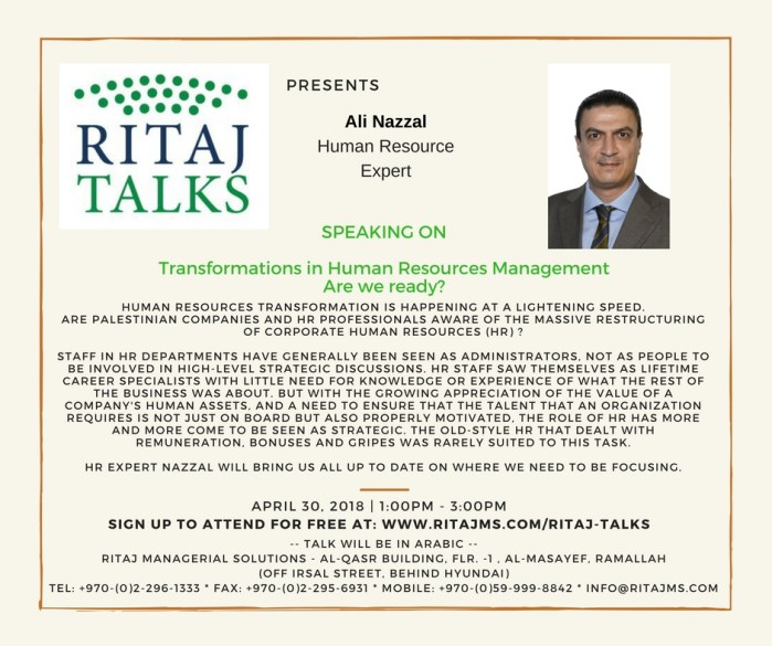 RITAJ Talks 31