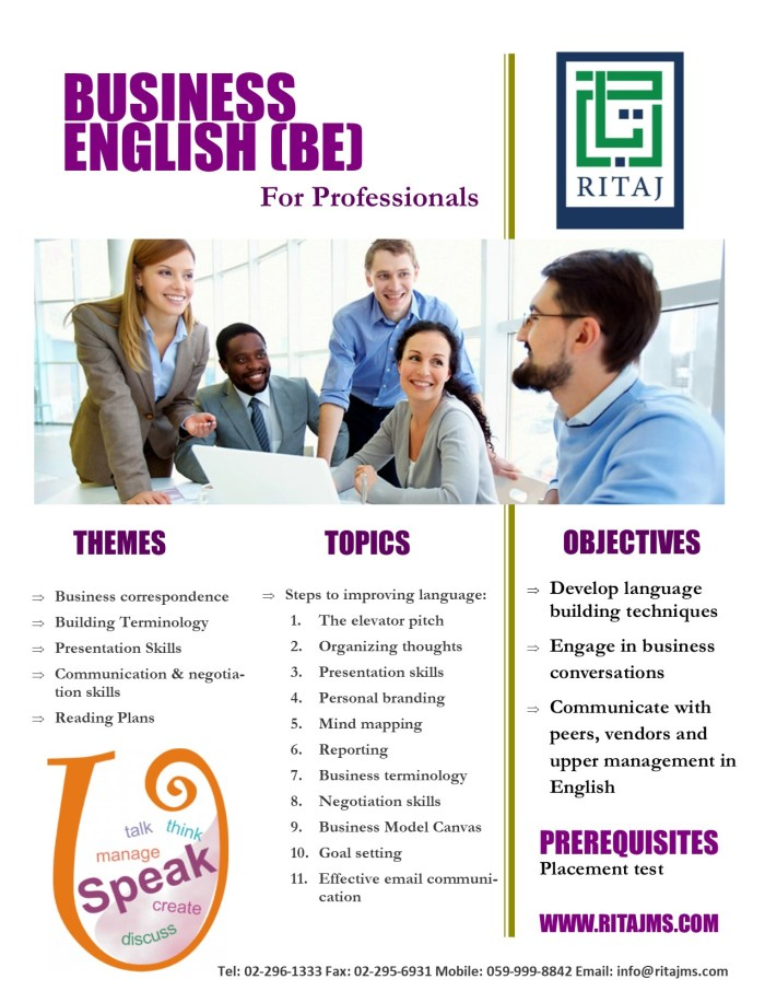Business English for Professionals - ELP-BE 1