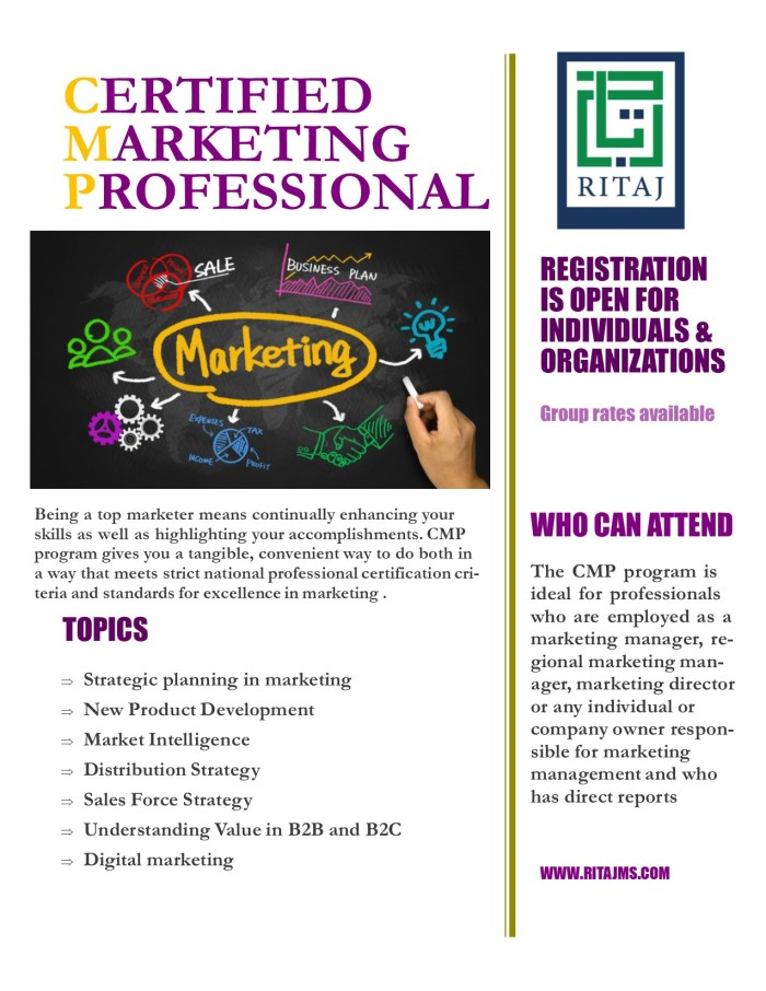 Certified Marketing Professional - CMP 1