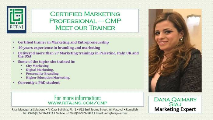 Certified Marketing Professional - CMP 2