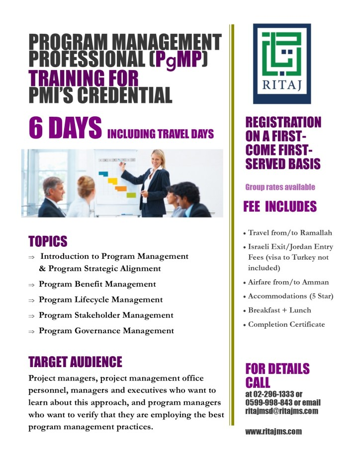 Program Management Professional Certification - PgMP 3