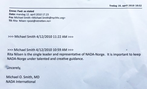 Mail fra Dr. Smith