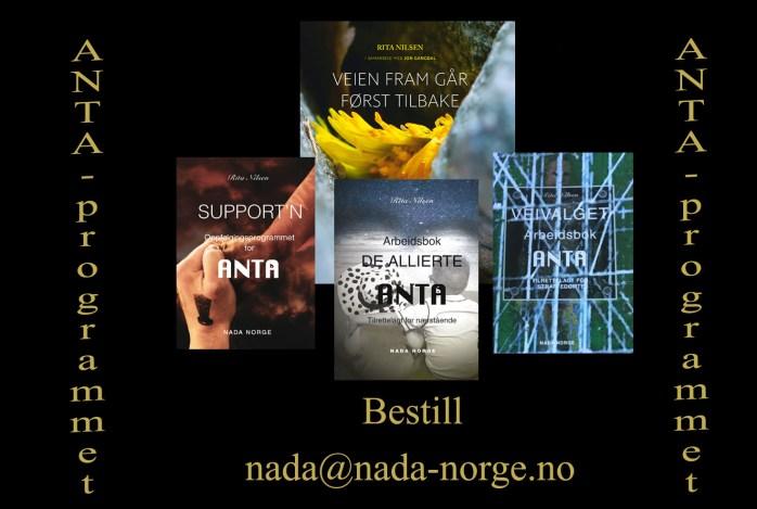 Bilde over bøkene til ANTA-programmet