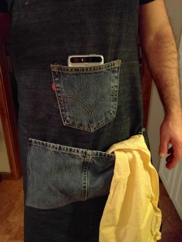 He wanted that top pocket just for his cell phone.
