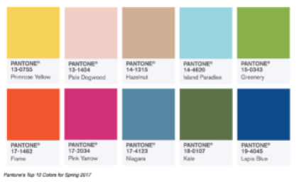 Spring and Summer Colors