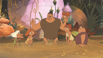 Clips of Dawn of the Croods
