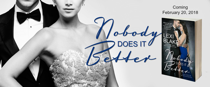 Nobody Does It Better by Lexi Blake Cover Reveal