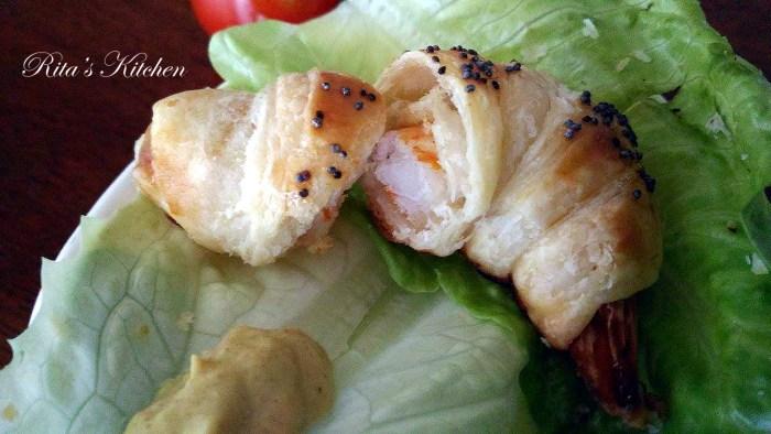 croissant di gamberi
