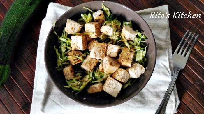 insalata crudista di zucchine