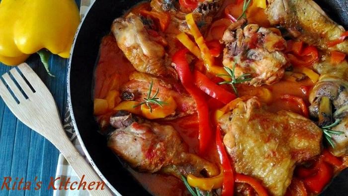 pollo con i peperoni