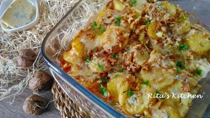 patate al gorgonzola e noci
