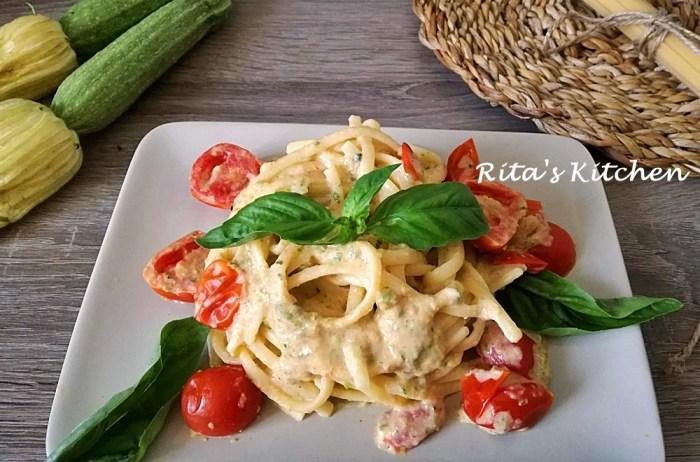linguine alla crema di zucchine