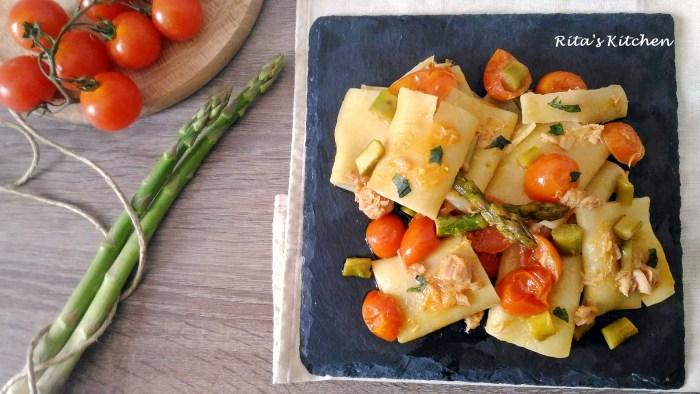 paccheri con asparagi e tonno