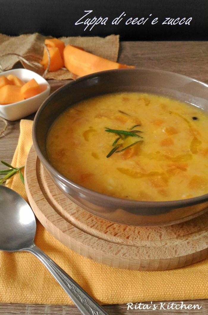 zuppa con ceci e zucca