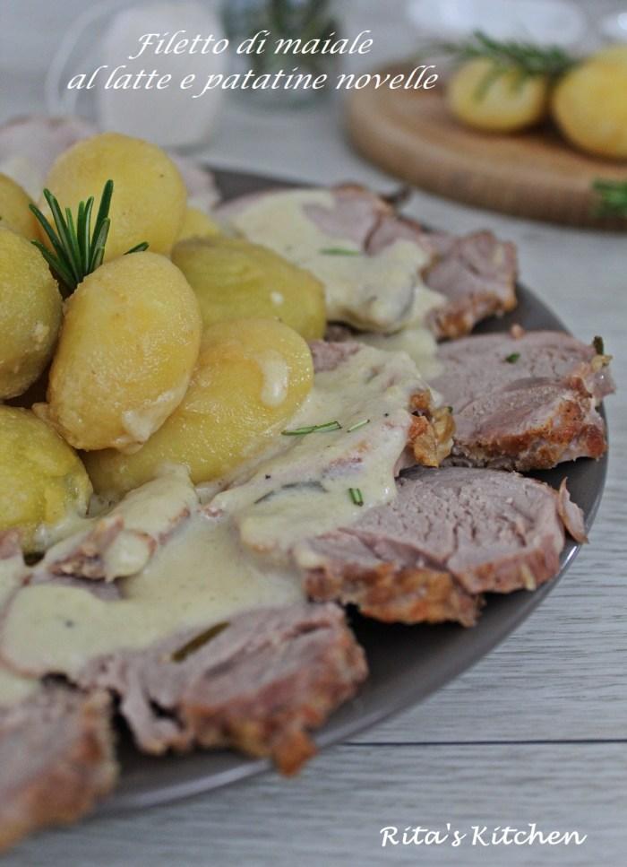 filetto di maiale al latte con patatine novelle