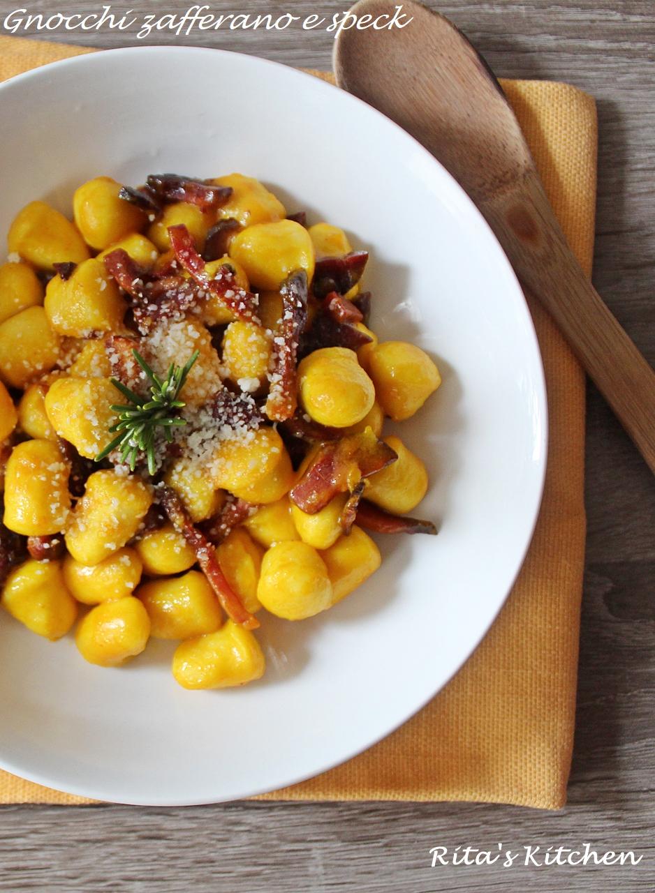 Ricette Con Gnocchi E Speck.Gnocchi Zafferano E Speck Rita S Kitchen