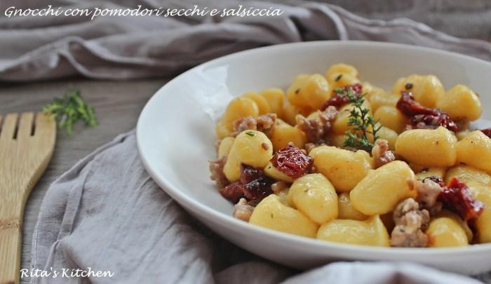 gnocchi ai pomodori secchi e salsiccia