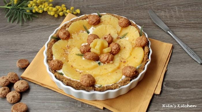 crostata senza cottura all'ananas