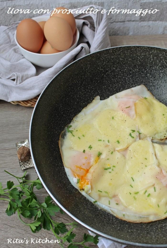 uova con prosciutto e formaggio