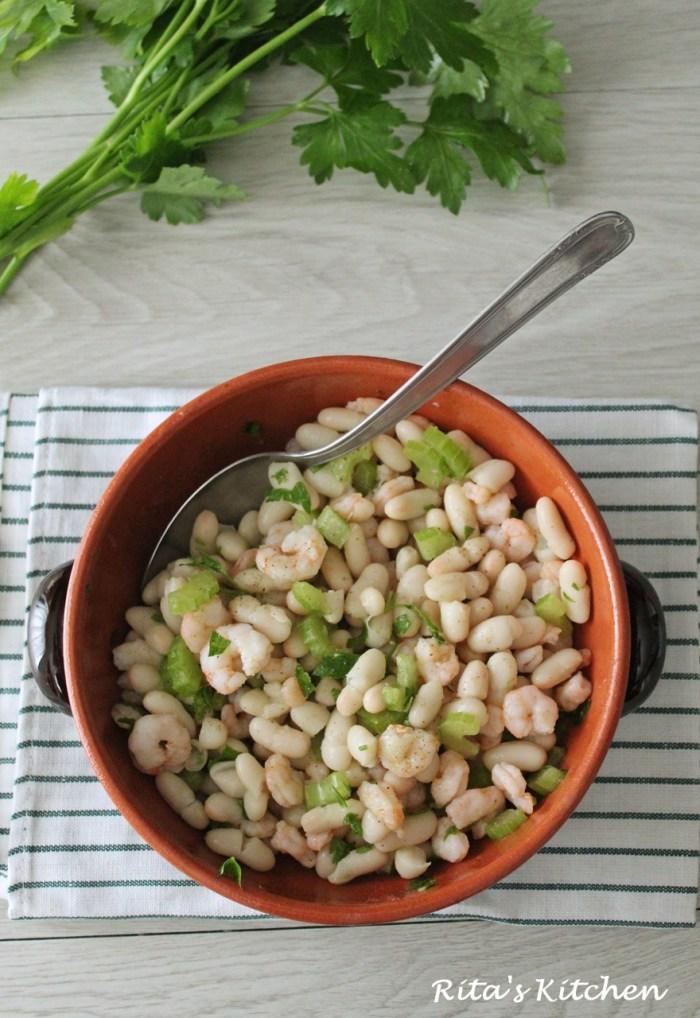 insalata di gamberetti e cannellini