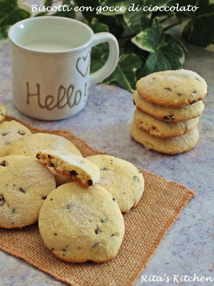 biscotti morbido con gocce di cioccolato