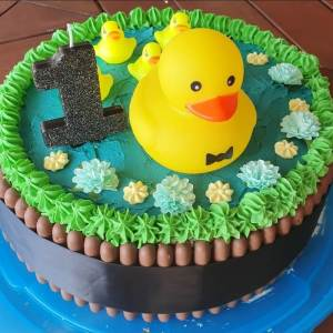 5 Little Duck's Themed Cake