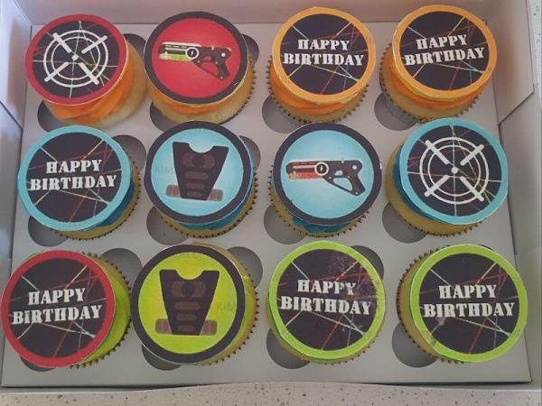 Laser Tag Themed Cupcakes