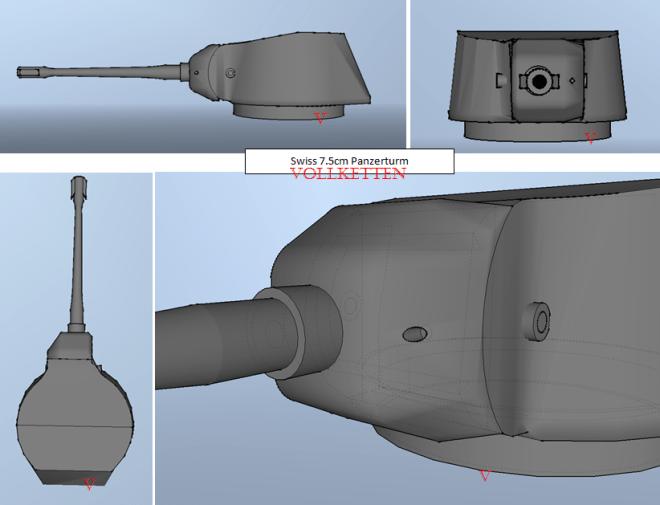 7.5cm Turm model
