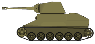 Panzerkanone II with unaltered hull ( less feasable conversion)